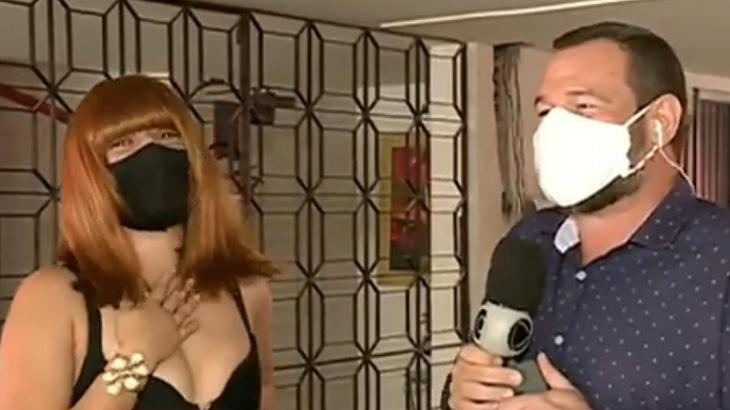 Barata assusta entrevistada no Balanço Geral
