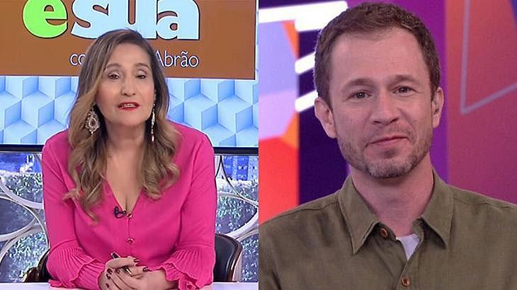 Sônia Abrão e Tiago Leifert em foto montagem