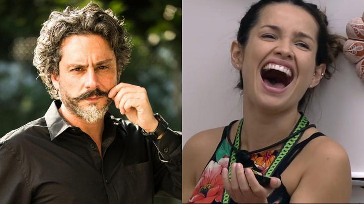 Alexandre Nero em Império (à esquerda) e Juliette rindo no BBB21 (à direita) em foto montagem