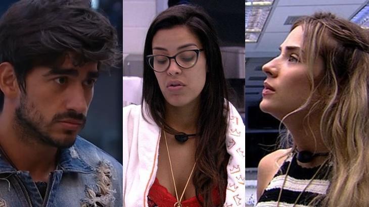 Guilherme, Ivy e Gabi durante o reality show BBB20