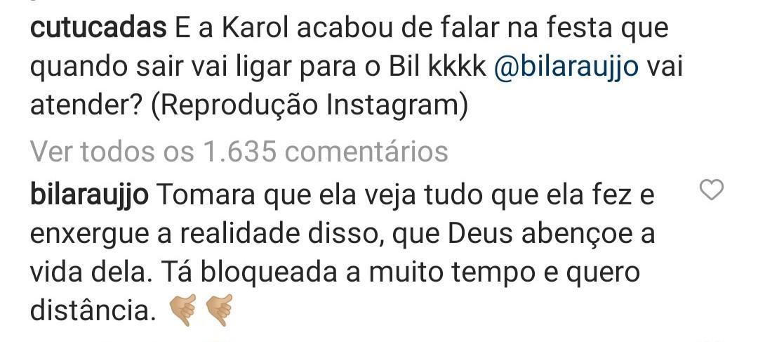 """BBB21: Arcrebiano sobre possível ligação de Karol: """"Quero distância"""""""