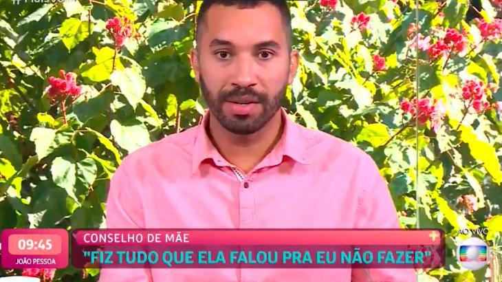 Gilberto falando em entrevista para Ana Maria Braga no Mais Você