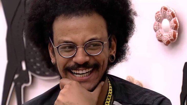 João Luiz durante o BBB21