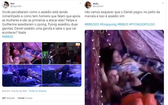 BBB20: Daniel pega em seio de Marcela e internautas apontam assédio