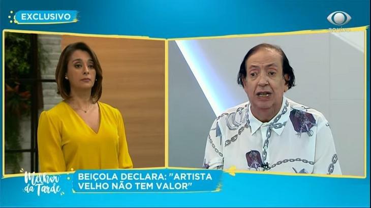 Marcos Oliveira, o Beiçola, consegue emprego após cair em trote