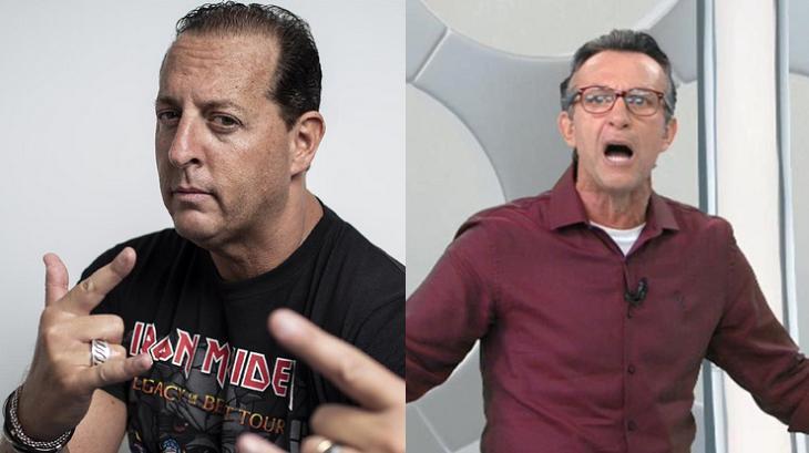 """Neto exibe programa de Benja para rebater jogador do Palmeiras: \""""Foram xingar meu filho\"""""""