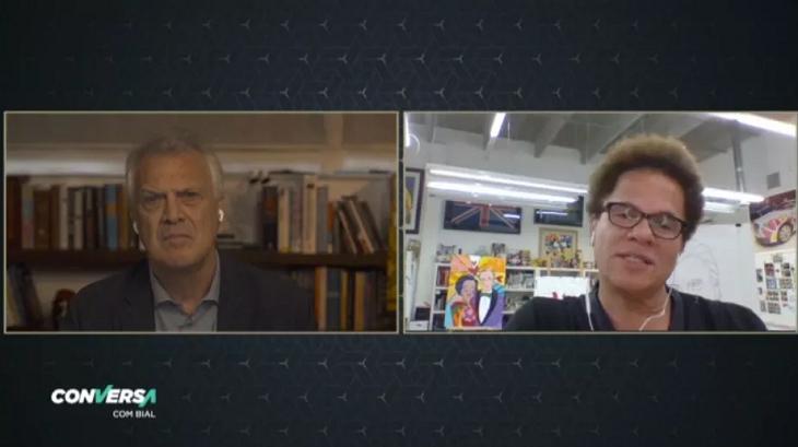 Pedro Bial e Romero Britto
