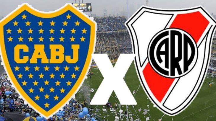 Escudos de Boca Juniors e River Plate