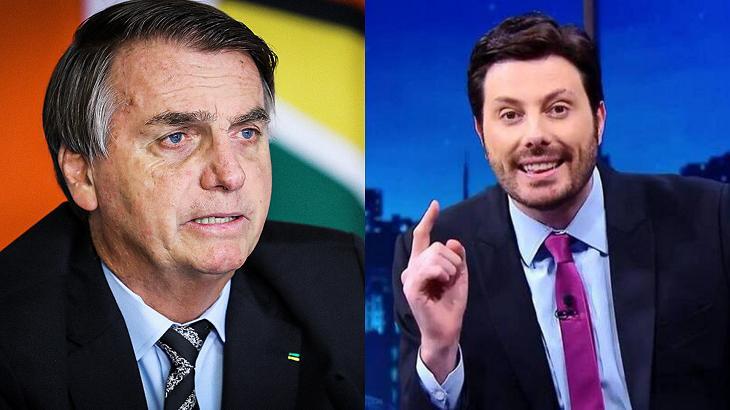 Jair Bolsonaro (à esquerda) e Danilo Gentili (à direita) em foto montagem