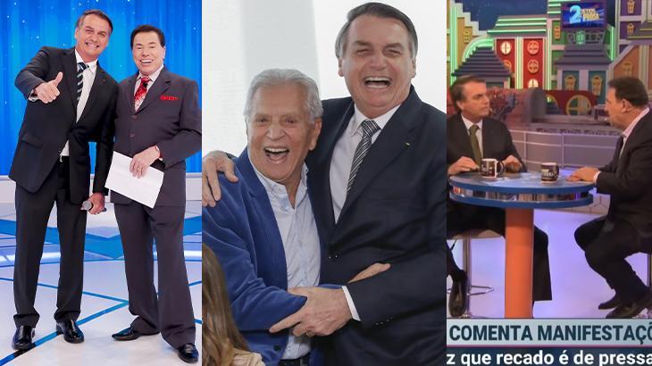 Em alta no SBT, Bolsonaro prestigia cinco artistas da casa em um mês