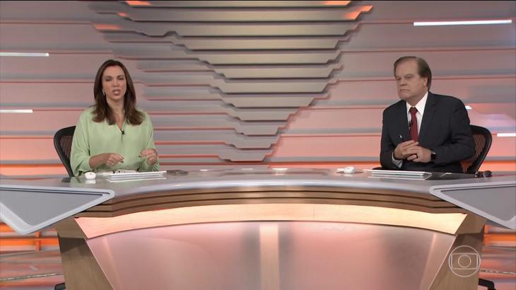 Chico Pinheiro e Ana Paula Araújo no Bom Dia Brasil