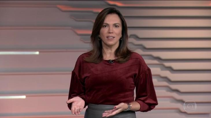 Ana Paula Araújo é a apresentadora do Bom Dia Brasil