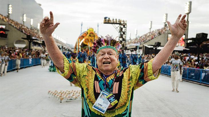 José Bonifácio de Oliveira Sobrinho, o Boni, desfila na Marquês de Sapucaí em 2017
