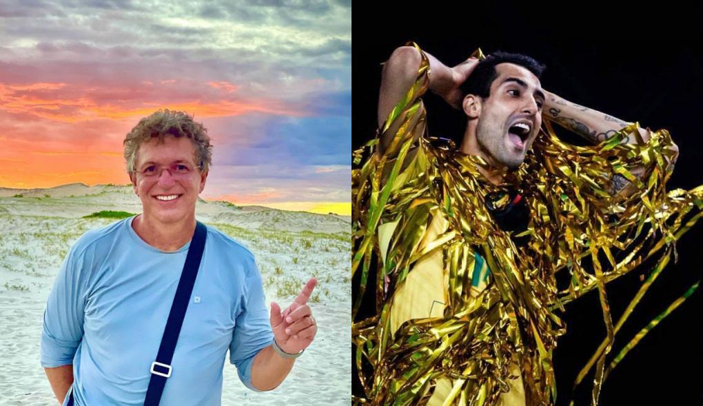 Montagem de fotos de Boninho e Douglas Souza