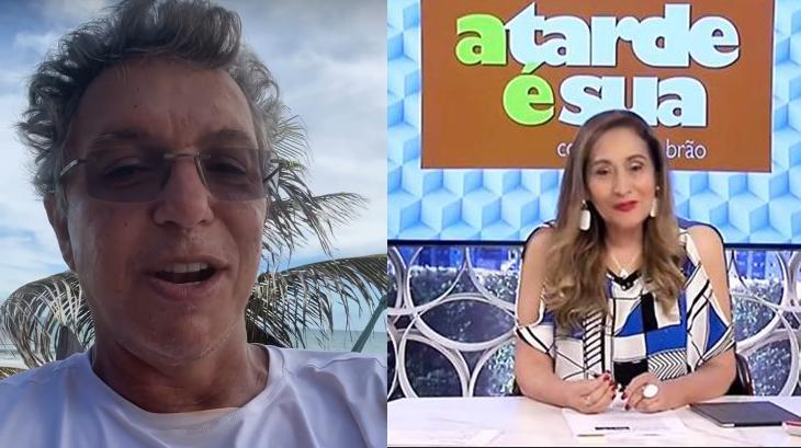 Boninho (à esquerda) elogiou Sônia Abrão (à direita)