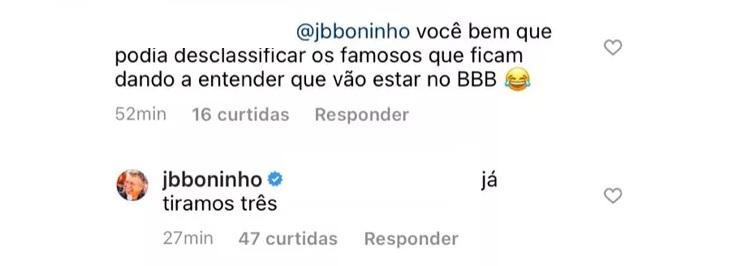 BBB21: Três famosos já foram desclassificados, diz Boninho