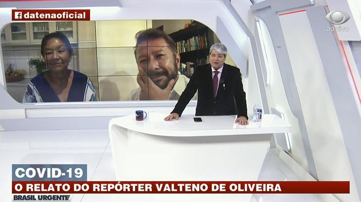 Repórter Valteno de Oliveira reencontra a mãe no Brasil Urgente