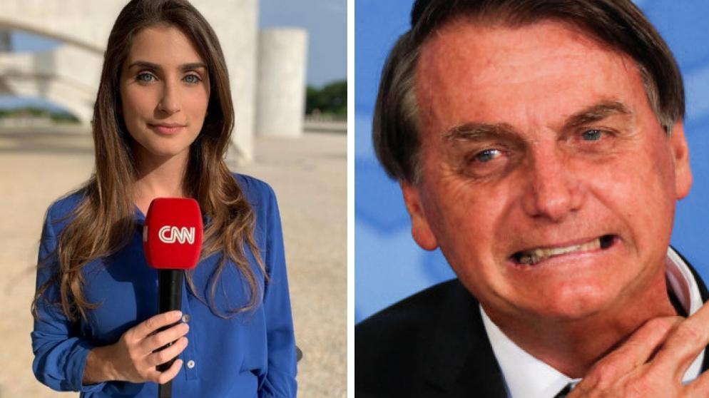 Carla Bridi e Jair Bolsonaro