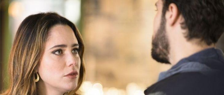 Haja Coração: Bruna pega Giovanni na mentira e faz chantagem