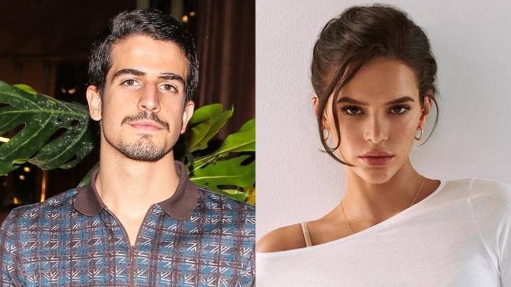 Enzo Celulari (à esquerda) e Bruna Marquezine (à direita) em foto montagem