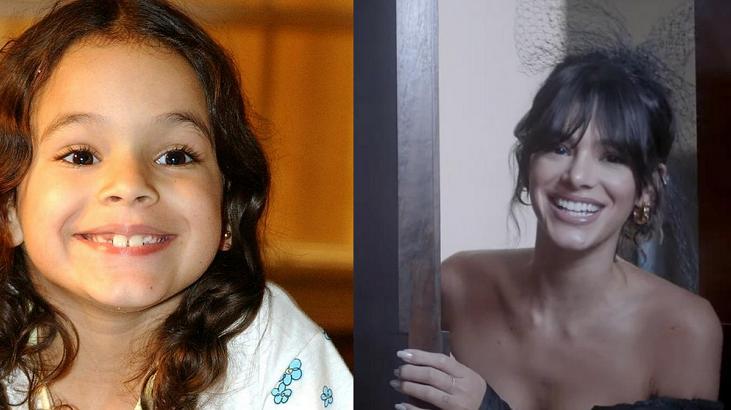 Bruna Marquezine quando criança e adulta