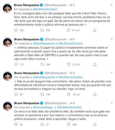 BBB20: Bruna Marquezine endossa campanha contra Prior, mas apaga comentário