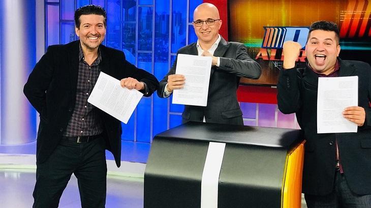 Brunoso e diretores da TV Brasília
