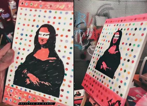 Caio Castro ataca de artista plástico e faz releitura de quadro famoso