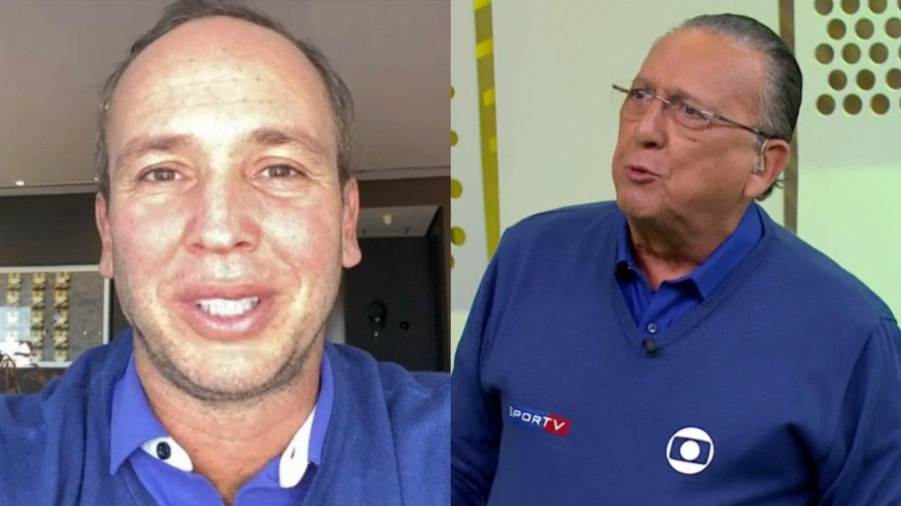 Caio Ribeiro falou sobre tratamento contra câncer em conversa ao vivo com Galvão Bueno, na Globo