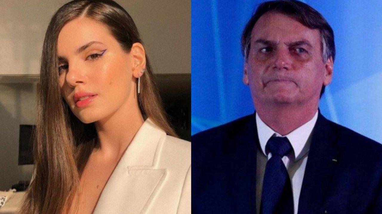 Camila Queiroz e Jair Bolsonaro