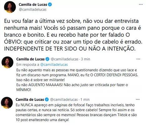 """Camilla de Lucas se revolta com haters: \""""Não aguento mais\"""""""