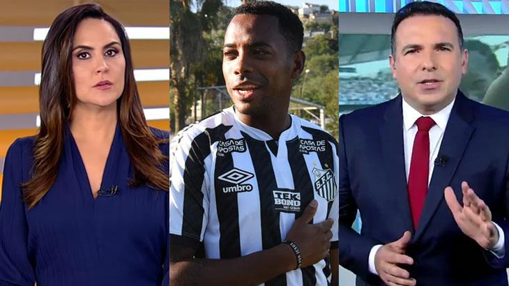 Carla Cecato, Robinho e Reinaldo Gottino