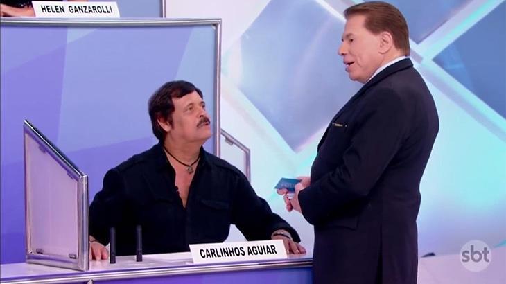 Carlinhos Aguiar e Silvio Santos no Jogo dos Pontinhos
