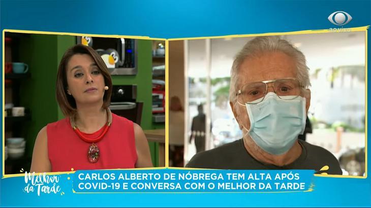 Carlos Alberto de Nóbrega no programa de Cátia Fonseca