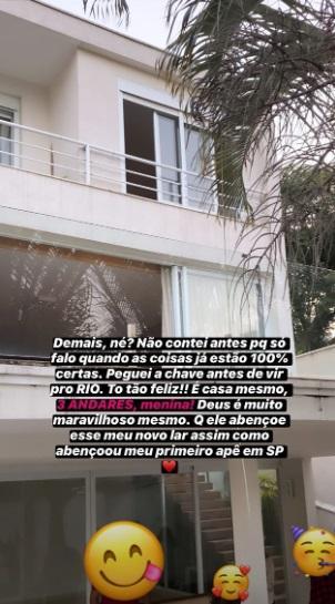 Bianca Andrade exibe nova mansão com piscina e três andares