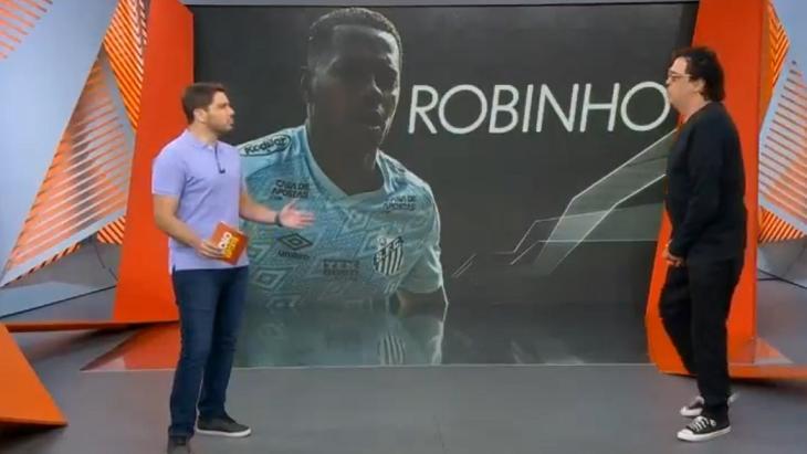 Casagrande e Felipe Diniz no cenário do Globo Esporte SP