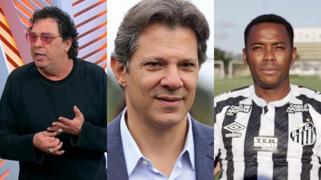 Walter Casagrande, Fernando Haddad e Robinho