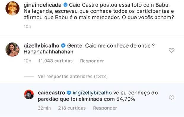 BBB20: Gizelly se engraça para cima de Caio Castro e leva