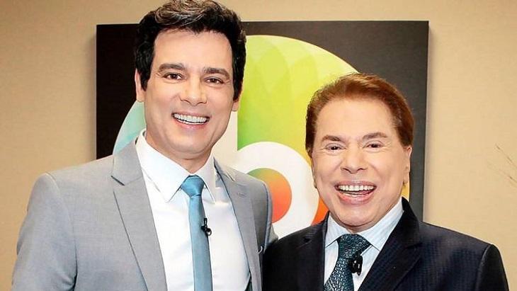 Celso Portiolli e Silvio Santos