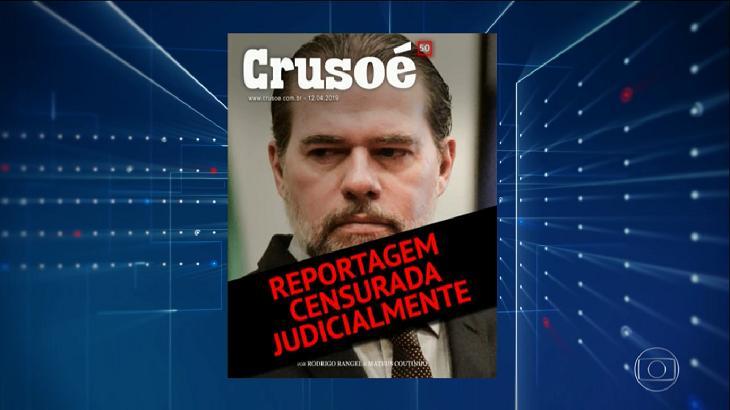 Revista Crusoé acusando STF de censurar reportagem