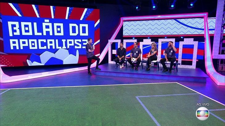 """Em estreia, \""""Central da Copa\"""" perde para o SBT e chega a ficar em terceiro no Ibope"""