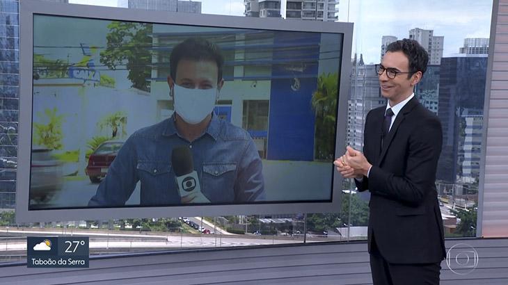 César Tralli nega dinheiro ao repórter Thiago Crespo