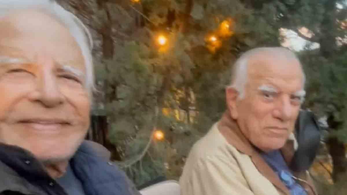 Cid Moreira e o irmão