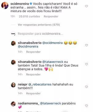 """Cid Moreira não perde a piada com Tatá Werneck: \""""Você só é estranha\"""""""