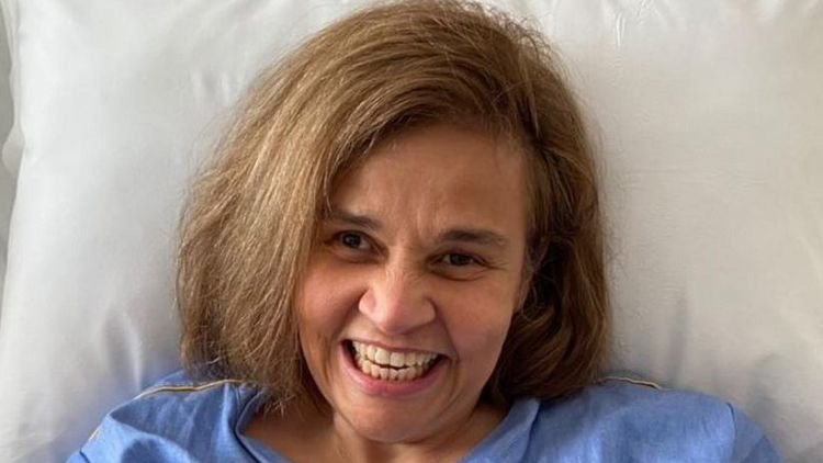 Claudia Rodrigues internada no hospital