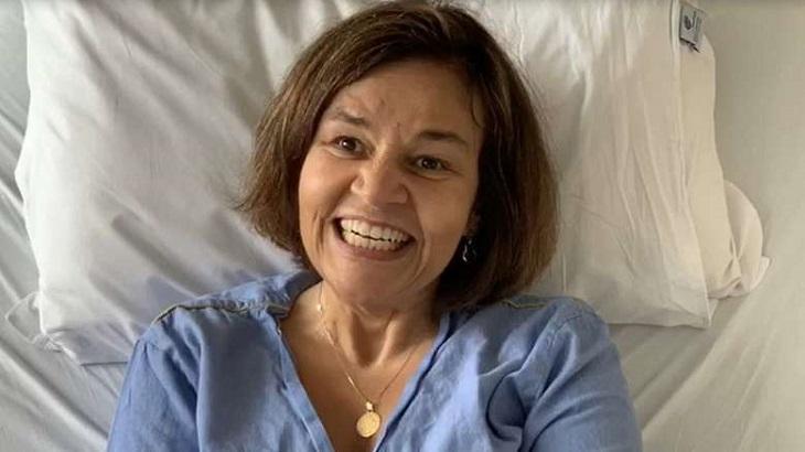 Claudia Rodrigues no hospital