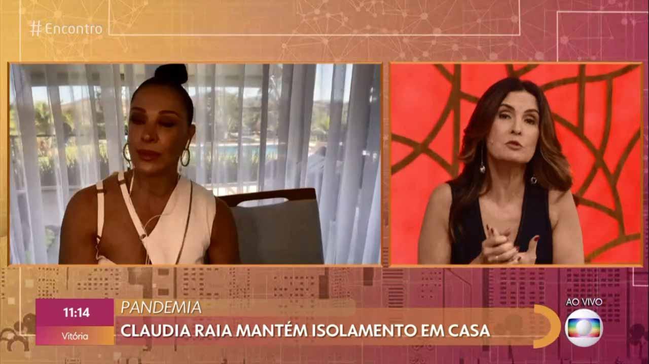 Claudia Raia e Fátima Bernardes no Encontro