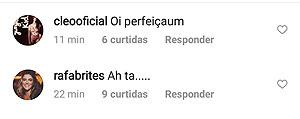 """Gabriela Pugliesi posta foto de lingerie vermelha e Cleo Pires diz: \""""perfeição\"""""""