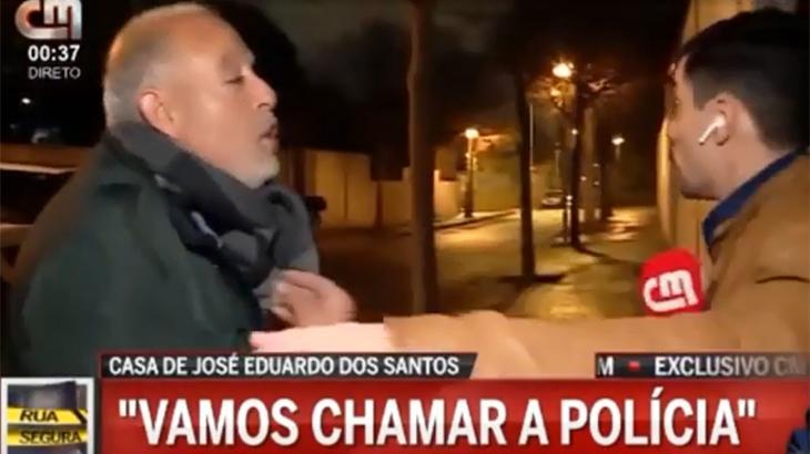 Homem reclama com repórter da CMTV