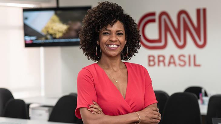 Luciana Barreto na sede da CNN Brasil